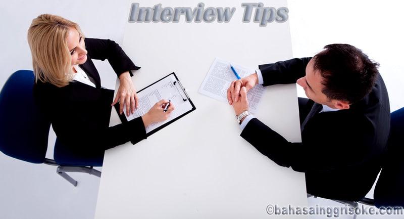 Test Wawancara Dalam Bahasa Inggris