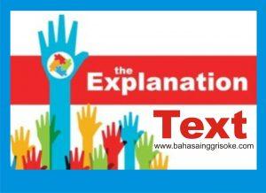 Contoh Penjelasan Teks | Explanation , Definisi Dan contohnya Terbaru