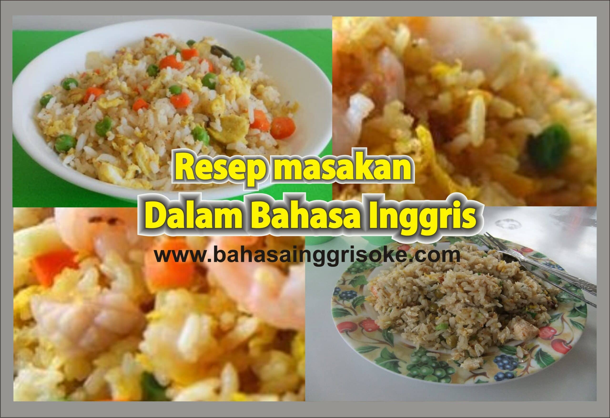 Kumpulan Koleksi Resep Makanan Dalam Bahasa Inggris Terbaru Dan Terlengkap Bukuinggris Co Id