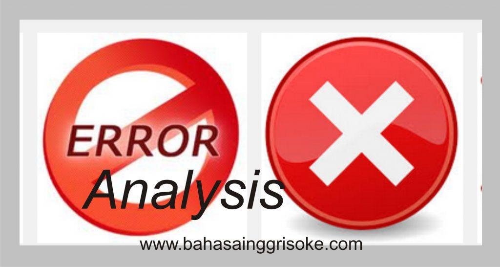 Artikel Bahasa Inggris tentang ERRORS ANALYSIS (conclusions and suggestions)