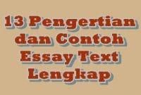 13 Pengertian dan Contoh Essay Text Lengkap