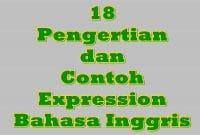 18 Peangertian dan Contoh Expression Bahasa Inggris