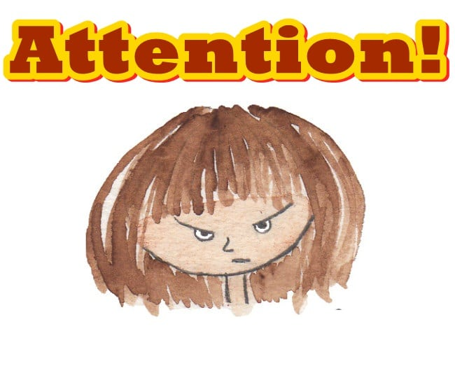 Dialog Bahasa Inggris tentang Attention