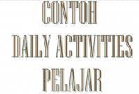 Contoh Daily Activity untuk Pelajar