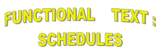 Functional Text-Schedules