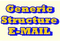 Generic Structure Email