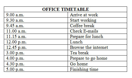Office Timetable Bukuinggris Co Id