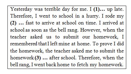contoh soal teks rumpang