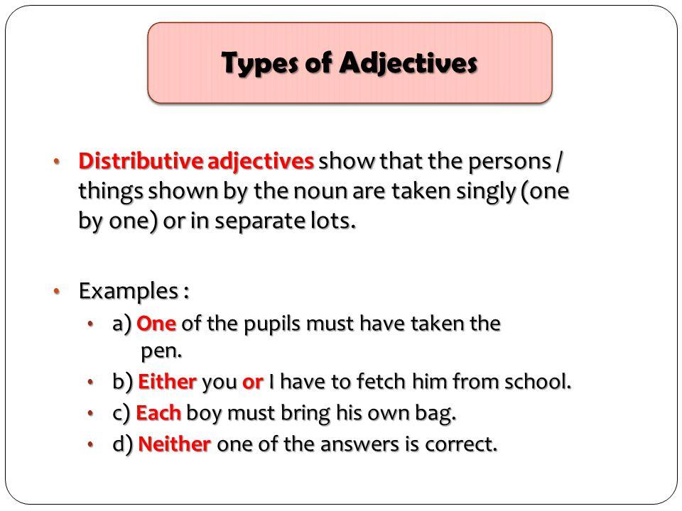 Distributive Adjective