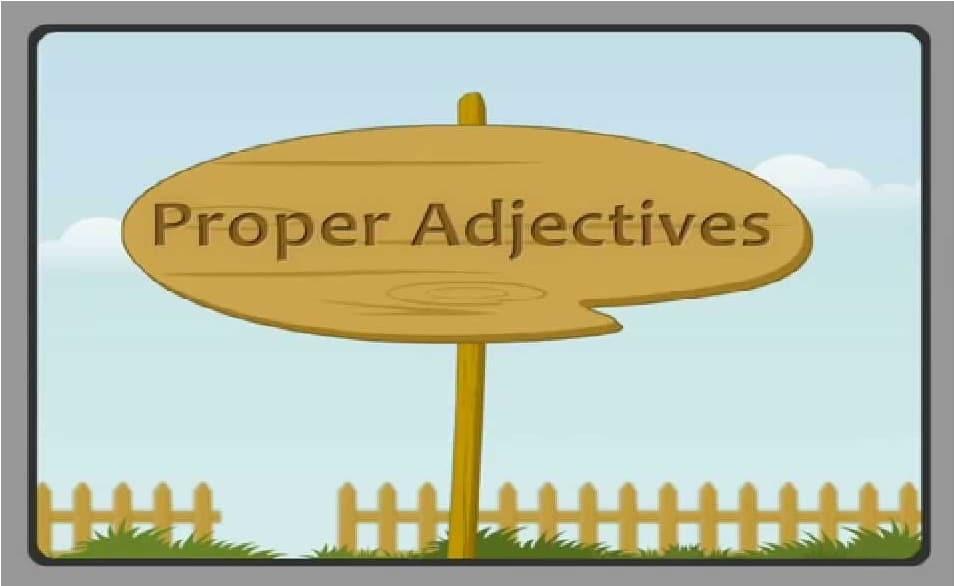 Pengertian Proper Adjective