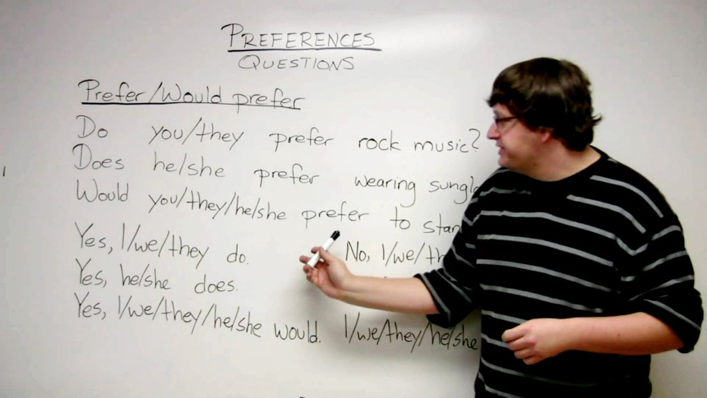 Pengertian,Rumus , Jenis dan Contoh Kalimat Preference