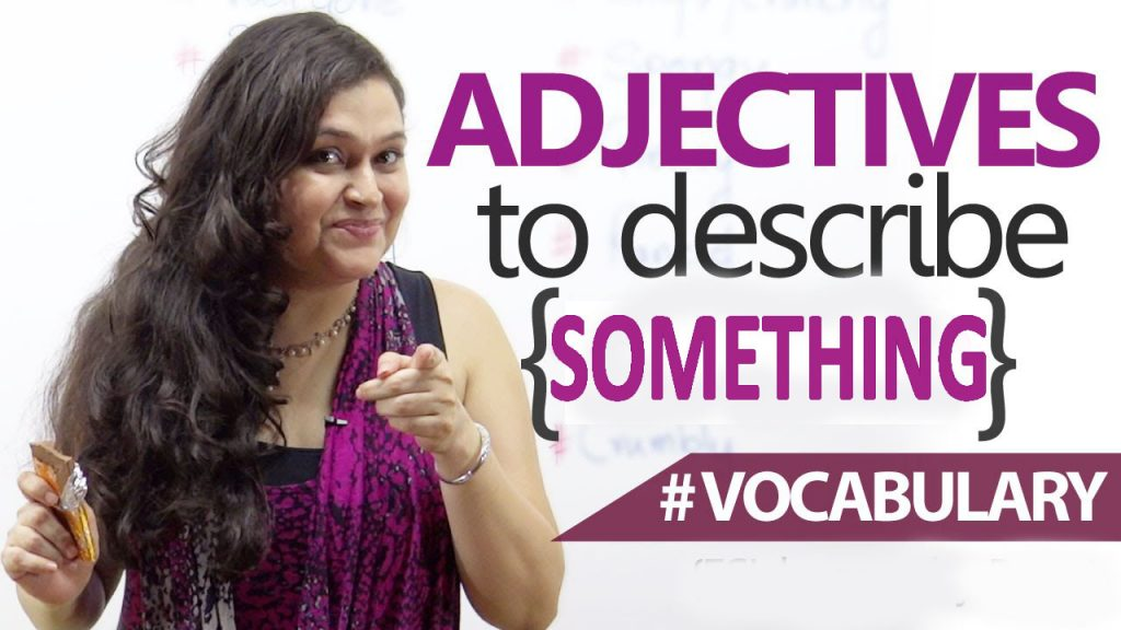 adjective describing something