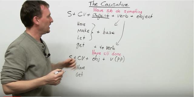 english grammar about causative