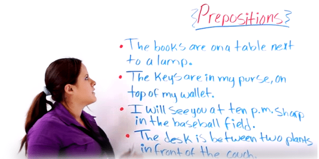 english grammar about preposition