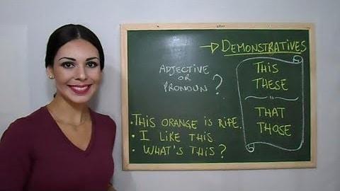 """fungsi dan contoh DEMONSTRATIVE """"this, that, these dan those"""""""