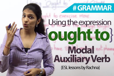 ought to modal verb