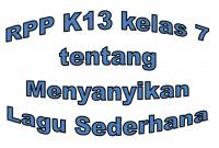 Contoh RPP Bahasa Inggris K13 kelas 7 SMP atau MTs