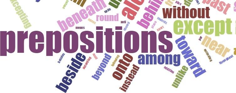 Four syllables Preposition