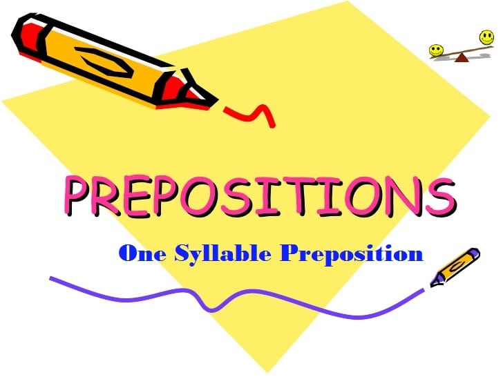 One Syllable Preposition
