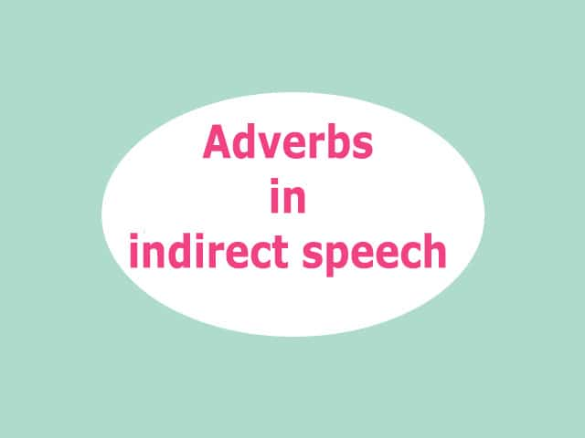adverb indirect