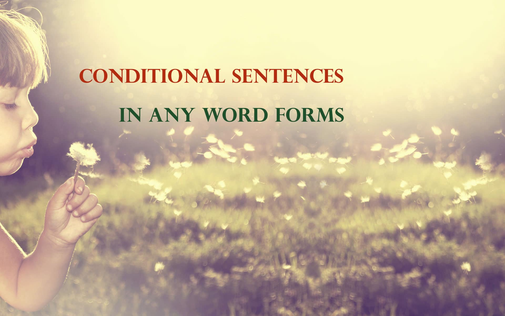 conditional any word