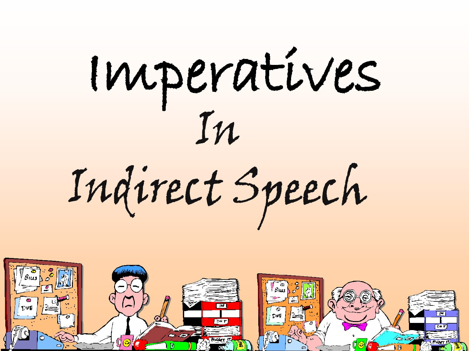 imperative in indirect