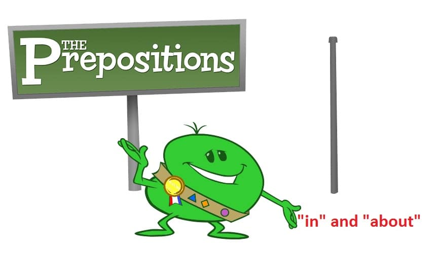 preposition in about