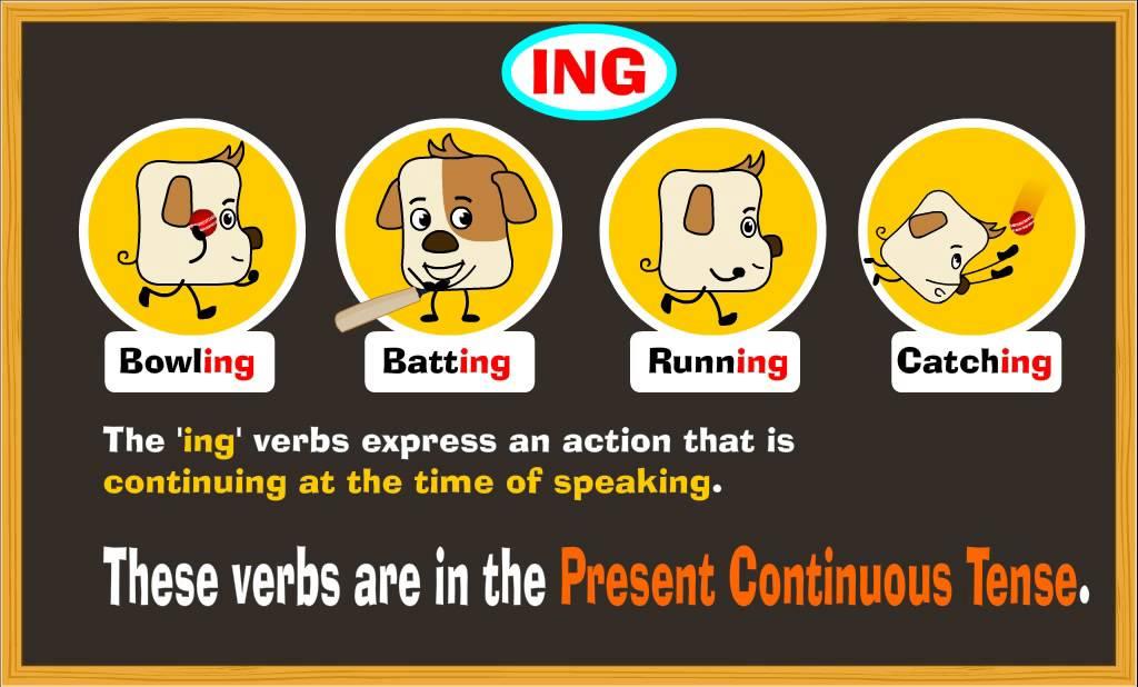 present continuous tense