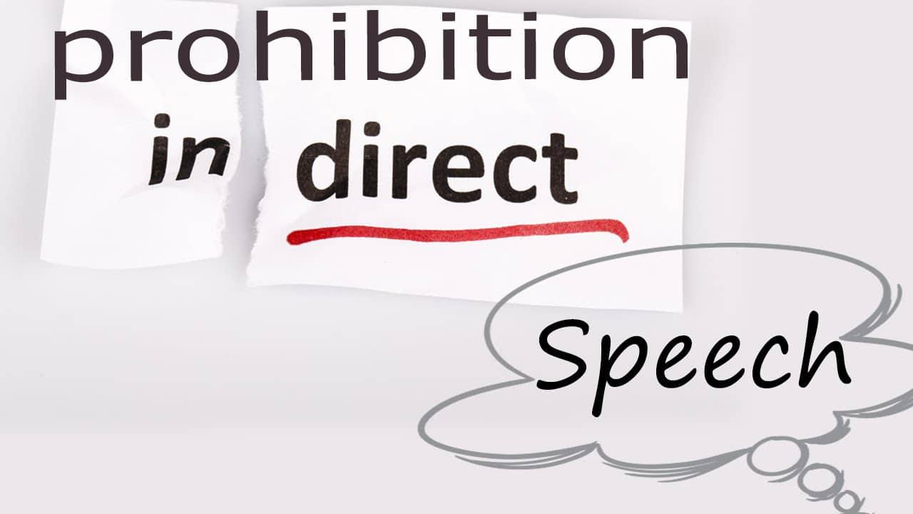 prohibition indirect