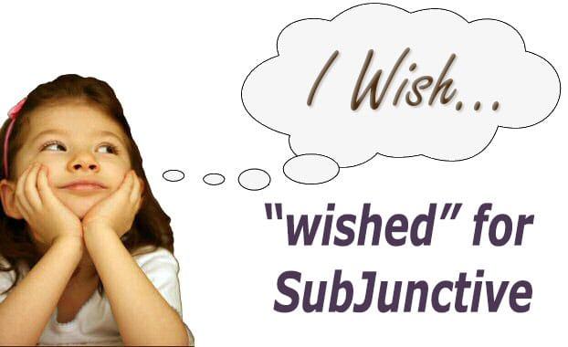 wish subjunctive