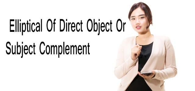 Elliptical Of Direct