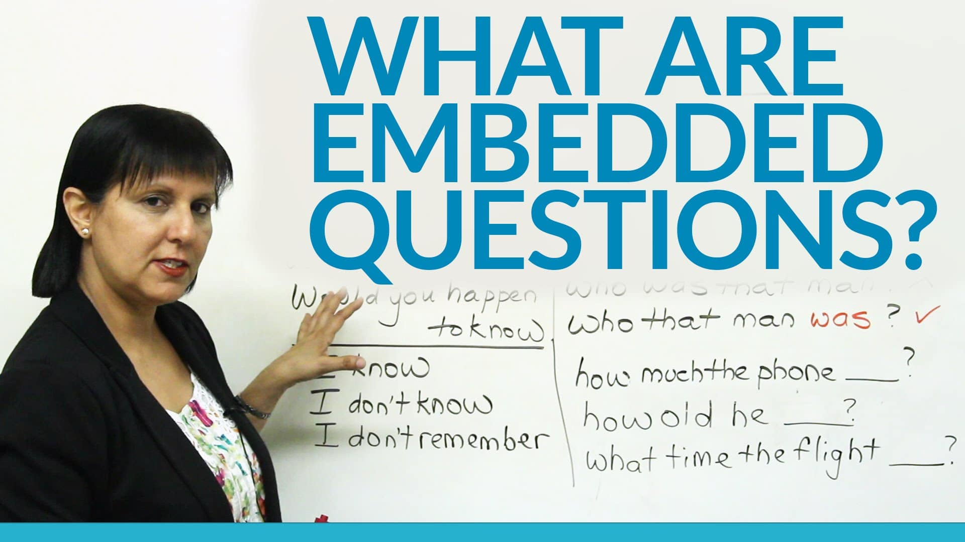 Embedded Question