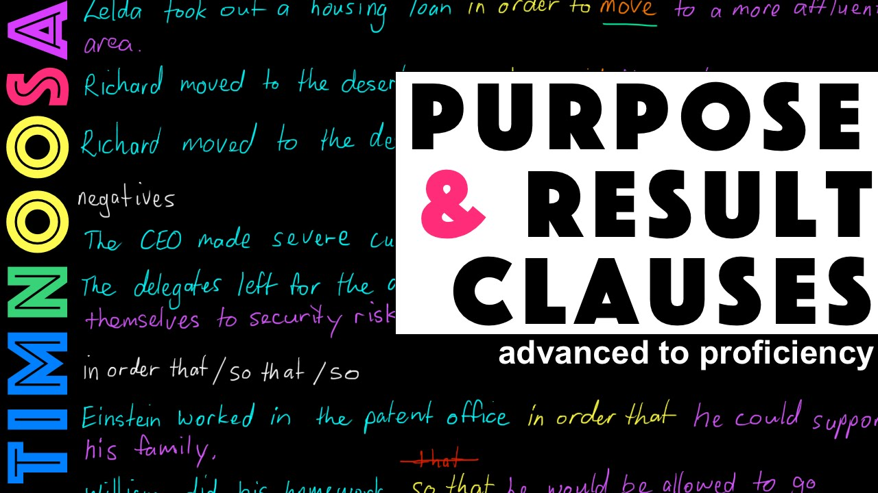 The Adverb Clause of Purpose And Result