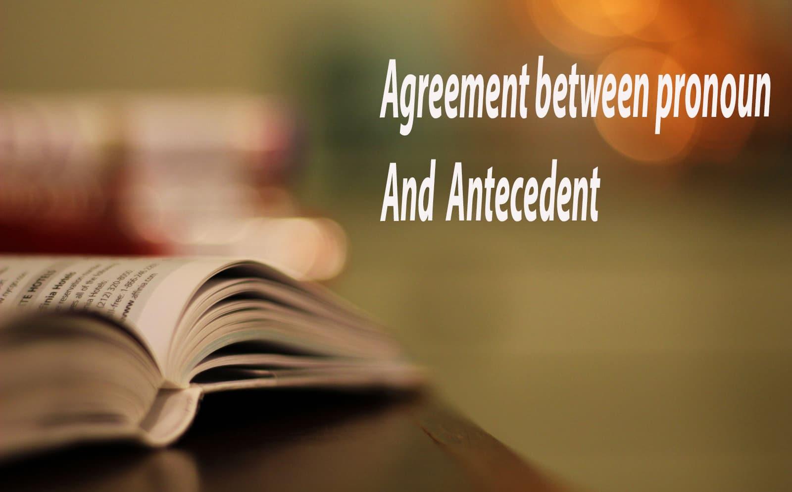 agreement between pronoun