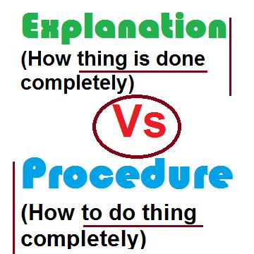 explanation-and-procedure