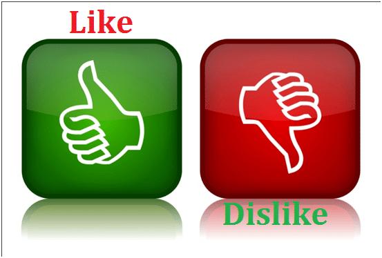 like dislike